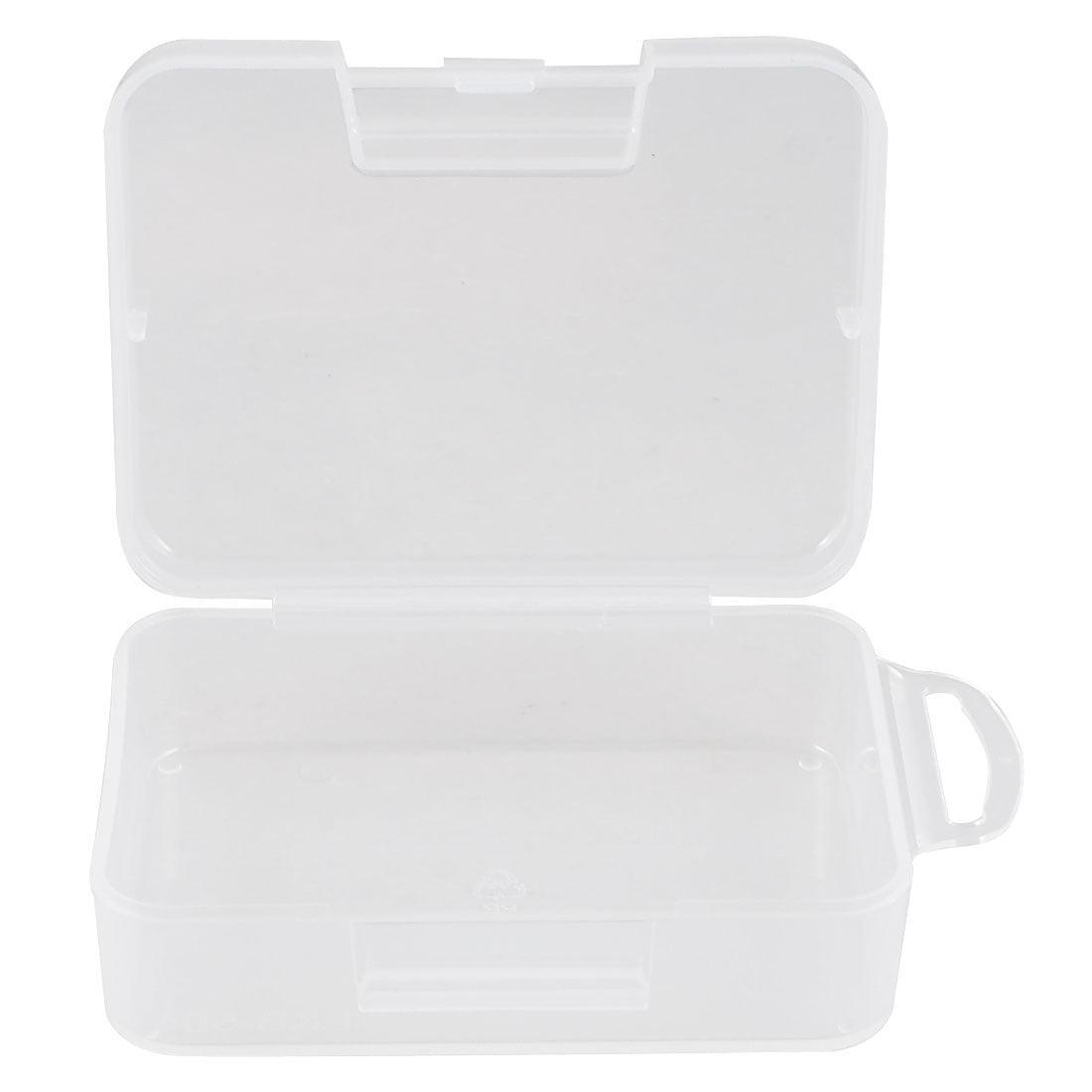 Unique Bargains Clear Plastic Jewelry Cuboid Case Box Holder Container 9cm x 6.5cm x 3cm
