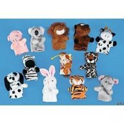 Plush Animal Finger Puppets - Party Favors - 12 Pieces