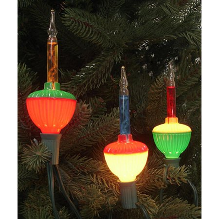 Pack Of 3 Multi Color C7 Bubble Light Replacement Christmas Bulbs