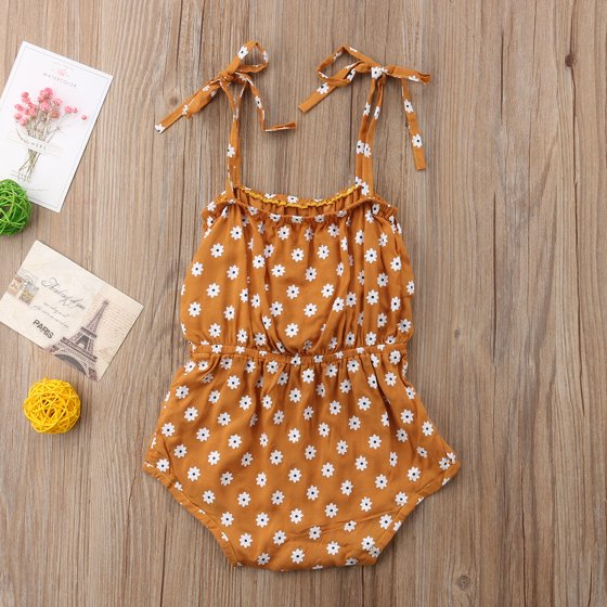 8e7926a4 CHRONSTYLE - Newborn Baby Girls Floral Romper Spaghetti Strap Bowknot  Jumpsuit Summer Outfit Clothes - Walmart.com
