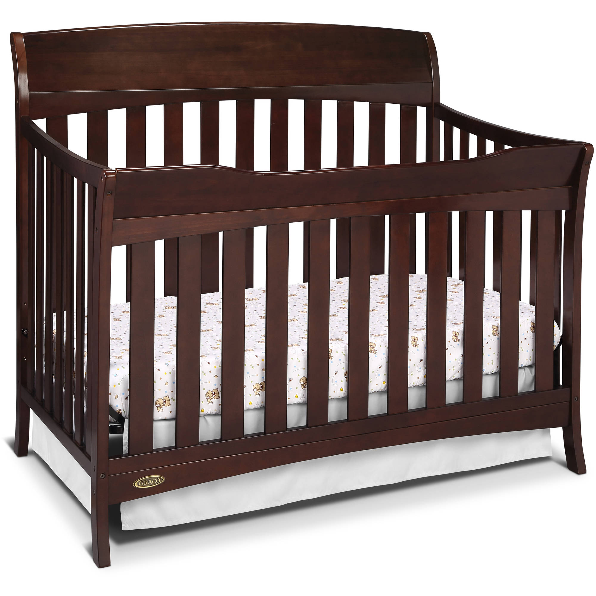 Graco Lennon 4 in 1 Convertible Crib Espresso