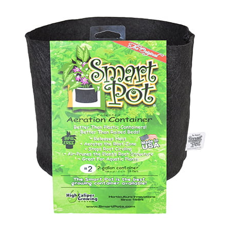 Smart Pot Aeration Plant Container, Black, 2 Gal., High Caliper Growing, 10002 ()