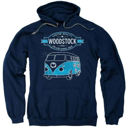 Galaxy Wool Sweater - Hoodie: Woodstock- Peace Van Apparel Pullover Hoodie - Blue