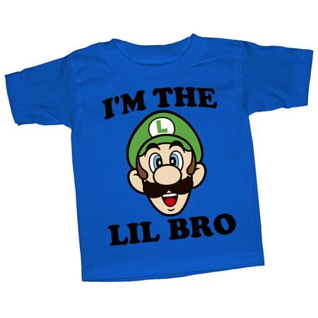 88a81b4b2 Nintendo - Nintendo Toddler's Luigi Little Brother T-Shirt - Walmart.com