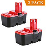 Biswaye 2 Pack ABP1801 Replacement Battery 18V 3.0Ah for Ryobi 18 Volt ONE Tools NiCd Battery ABP1803 BPP 181