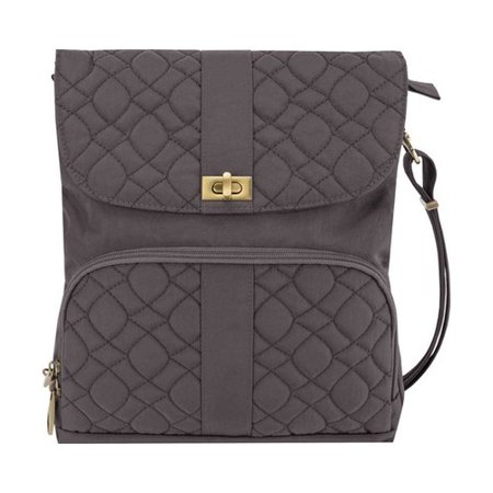 Travelon Anti-Theft Signature Quilted Messenger Bag  11.25
