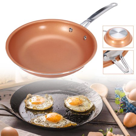 10 Inch Round Frying Pan Aluminum Skillet With Ceramic Non