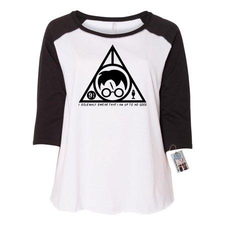 Plus Size Harry Potter Shirt (Harry Potter Solemnly Swear Triangle Plus Size Womens Raglan)
