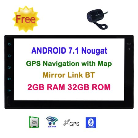 Christmas Gift! EinCar Android 7.1 Nougat 2 Din Car Stereo with Octa Core 7'' Touch Screen GPS Navigation FM/AM Radio Audio Receiver support Mirrorlink/WiFi/Bluetooth/1080P Video/Free Rear C ()