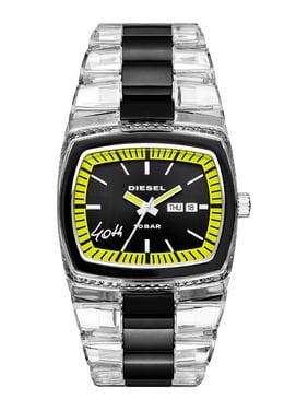 Diesel Mens 40th Anniversary 2005 Diesel Dz1879 Transparent Nylon Bracelet Watch (46x43mm)