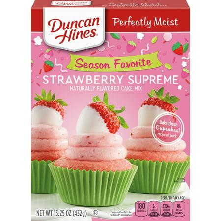 (2 Pack) Duncan Hines SIGNATURE LAYER CAKE MIX Strawberry Supreme 15.25 Oz Cake Mix Set