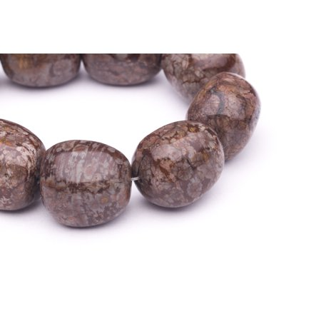 Irregular Square Brown Snowflake Obsidian Beads Semi Precious Gemstones Size: 22x16mm Crystal Energy Stone Healing Power for Jewelry - Beaded Snowflakes