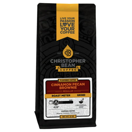 - Cinnamon Pecan Brownie Flavored Decaf Whole Bean Coffee, 12 Ounce Bag