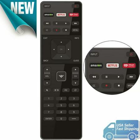 XRT122 for Smart TV Vizio Remote Control w Amazon Netflix IHeart Radio APP Key ()