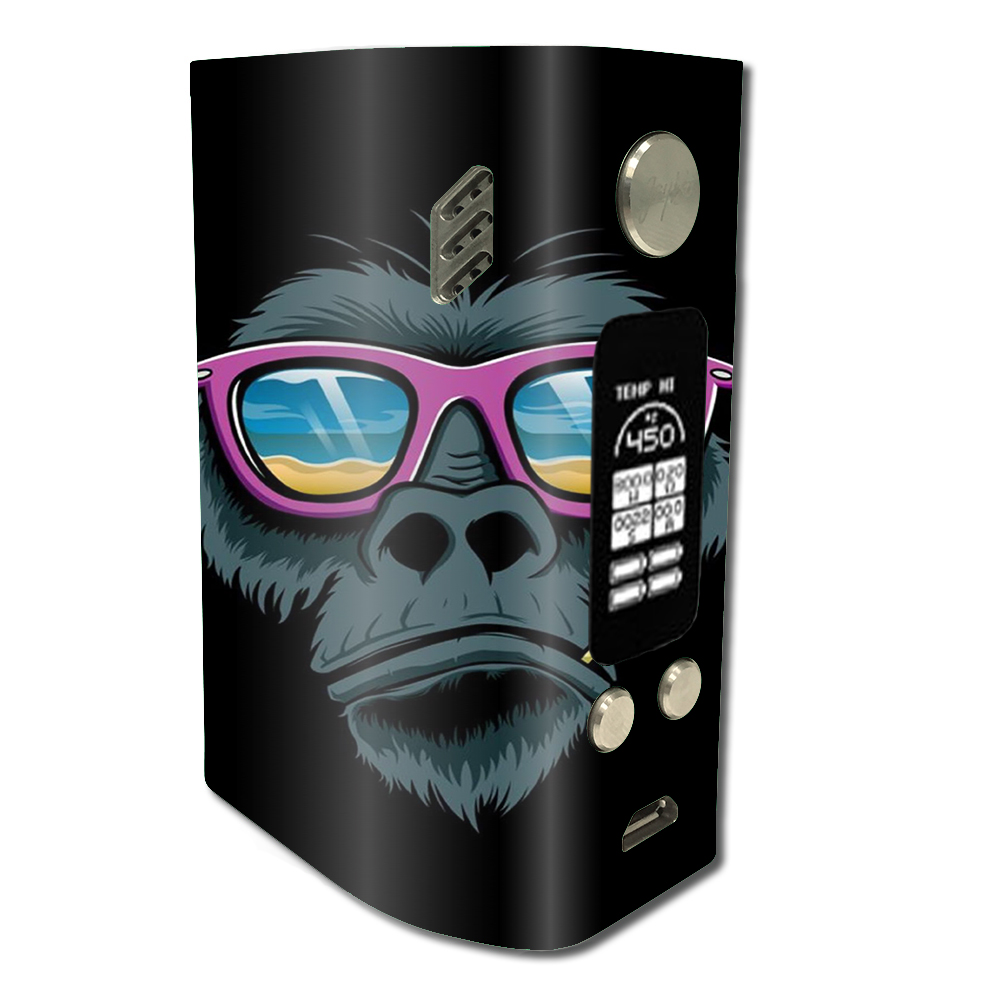 Skin Decal For Wismec Reuleaux Rx300 / Chimp Toothpick Sunglasses