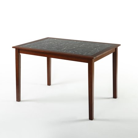 Faux Marble And Wood Dining Table Walmart Com