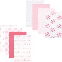 Luvable Friends Baby Girls' Flannel Receiving Blanket, 8-Pack, Choose Your Color