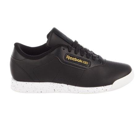 Reebok Princess Sneaker - Black/White/Gold Metallic - Womens - 6.5