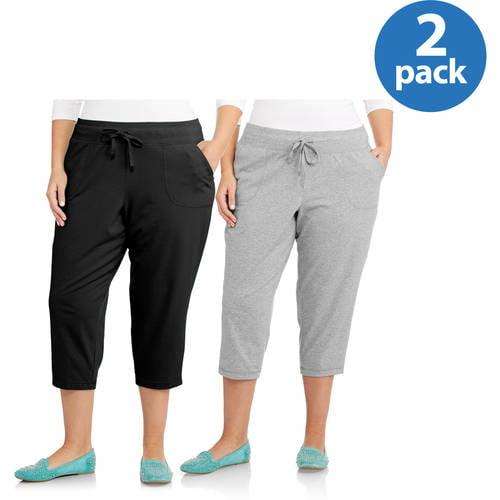 Image of Danskin Now Women;s Plus-Size Essential Capri, 2-pack Value Bundle