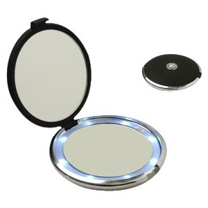 Floxite Lighted Jeweled 10x/1x Compact Mirror with Crystals