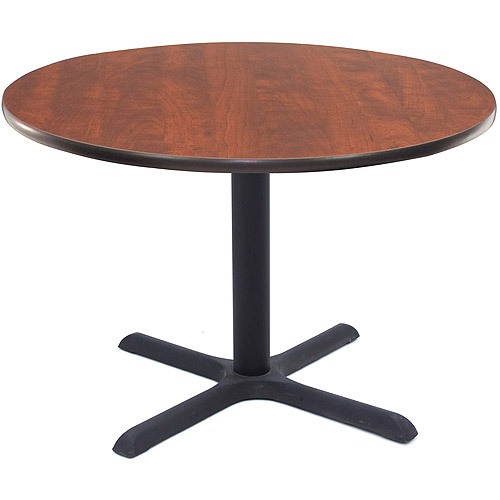 "Regency 36"" Round Lunchroom Table with Metal ""X"" Base"