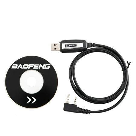 UBesGoo For Baofeng UV-5R BF-888S Radios USB Programing Cable Program Software CD (Computer Program Software)