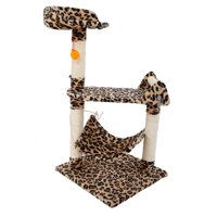 "Ktaxon 32"" Cat Condo Multifunction Scratching Post Pet House Toy Tree with Hammock Bed"