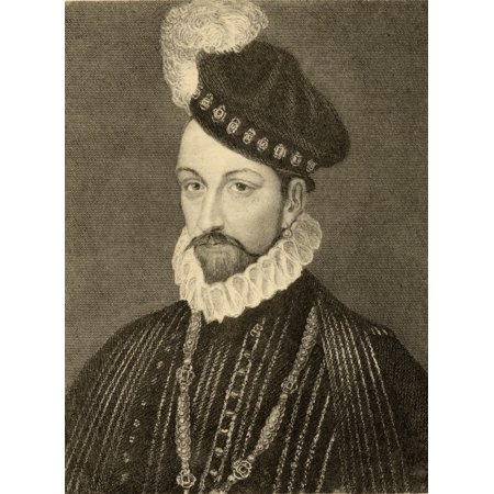 Charles Ix 1550 1574 King Of France Born Charles Maximilien The Son Of King Henry Ii Of France And Catherine De Medici Photo Etching From A Painting By T Wageman From The Book  Lady  Jackson S Works