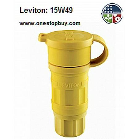 - Leviton 15W49 6-15R Wetguard Connector Industrial - Yellow