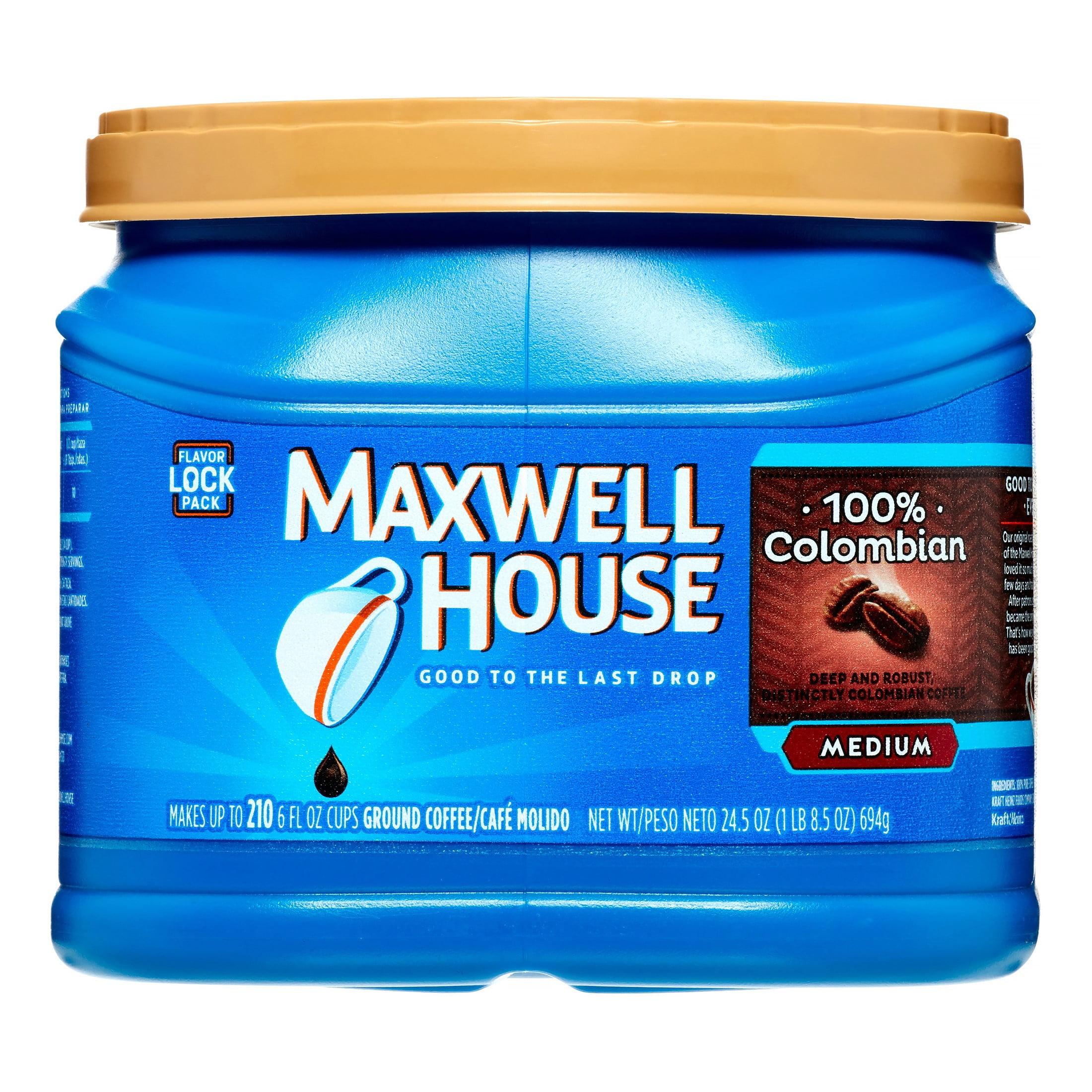 Maxwell House 100% Colombian Ground Coffee 24.5 oz. Tub