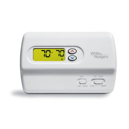 White-Rodgers 1F89-211 Digital Non-Programmable Thermostat with Lighted Display
