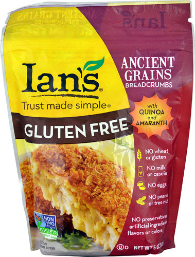 Ian's Natural Foods Ancient Grains Breadcrumbs Gluten Free -- 5 oz pack of 12 by Ian'S Natural Foods