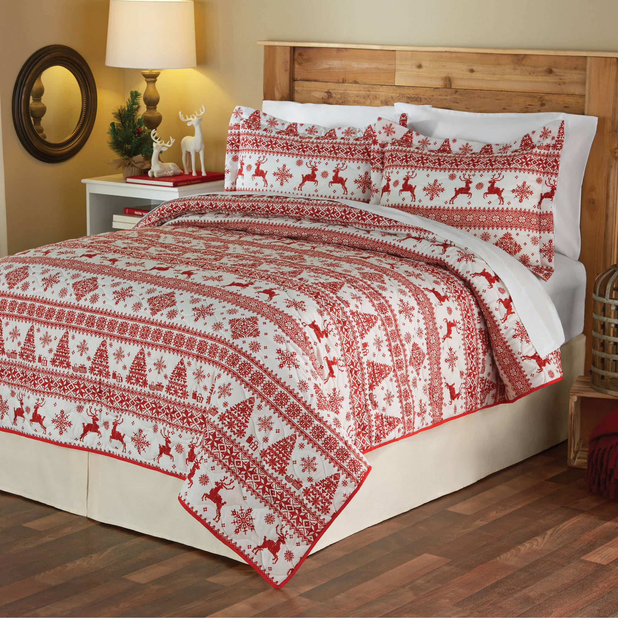 Mainstays Christmas Sweater Holiday Quilt Set
