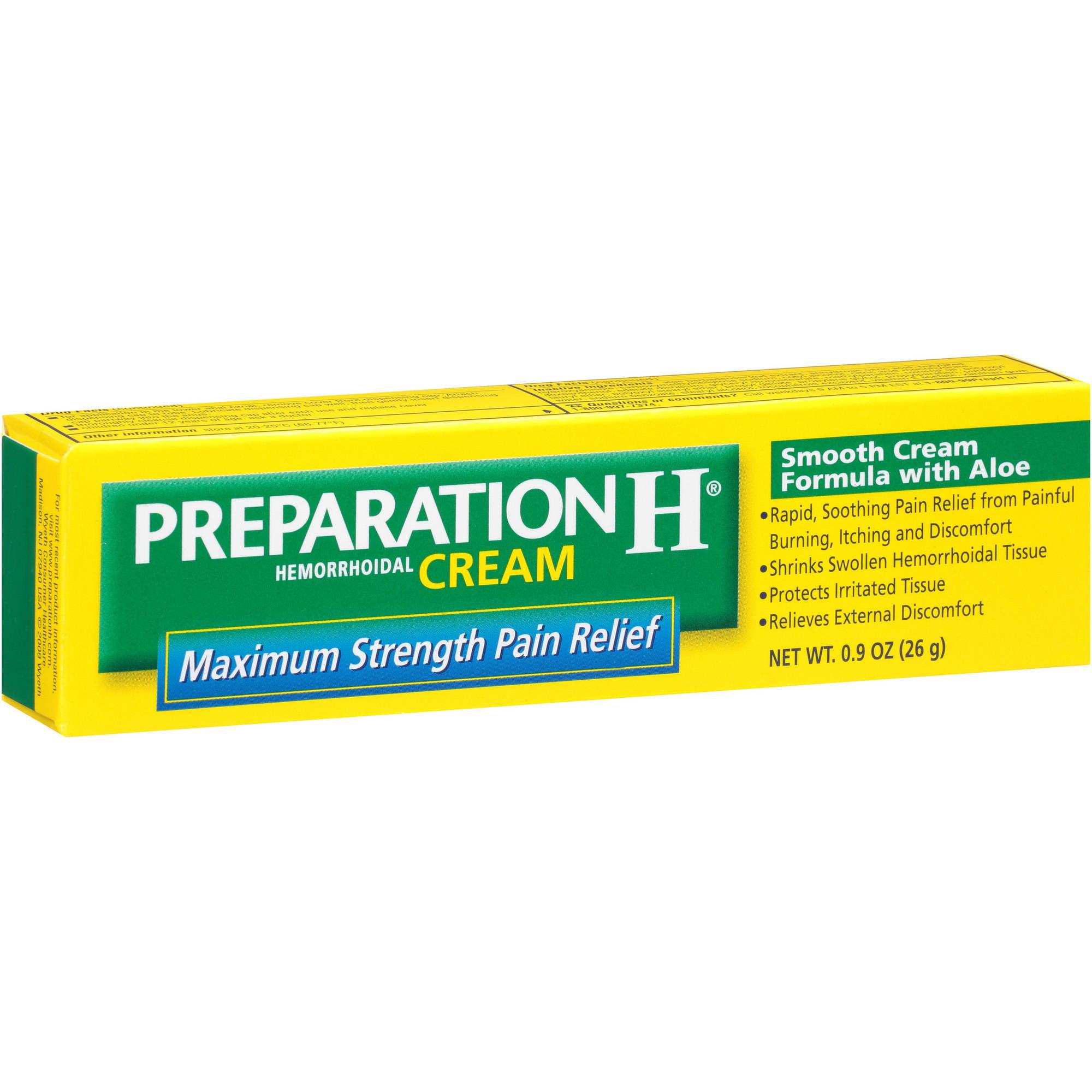 Preparation H Maximum Strength Pain Relief Cream, .9 oz