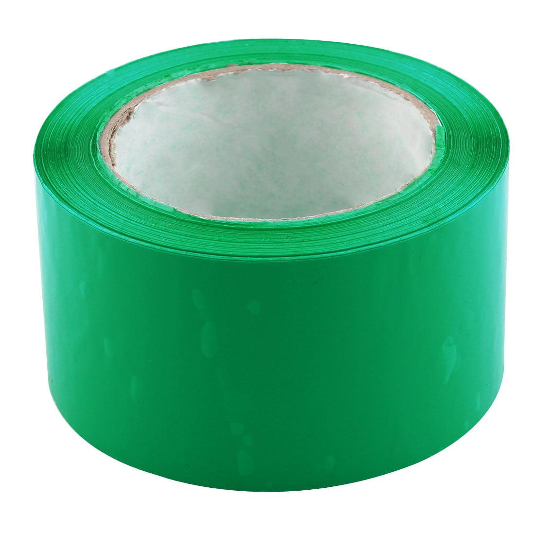 Shipping PVC Box Sealing Adhesive Tape Green 2.4'' x 98.4 Yards(295.3 Ft)