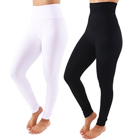 856baed2521 TD Collections - TD Collections Fleece Lined Leggings - High Waist Slimming  Thick Tights - Many Colors (Black White) - Walmart.com