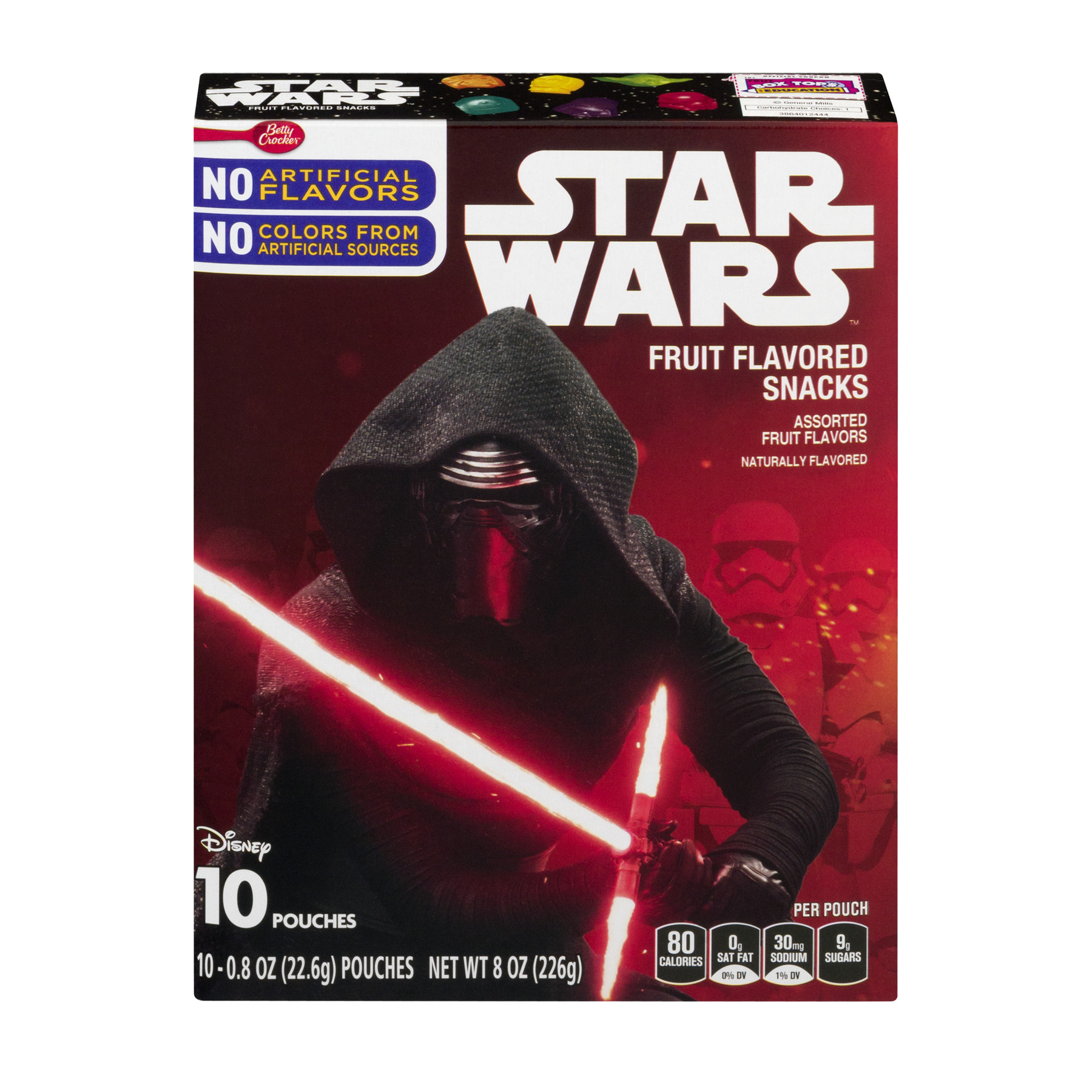 Betty Crocker Star Wars Fruit Flavored Snacks Assorted Flavors 10 - 0.8 oz Pouches