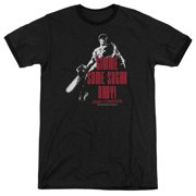 Mgm Army Of Darkness Sugar Mens Adult Heather Ringer Shirt
