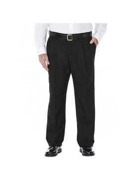 Haggar Men's Big & Tall Cool 18 Solid Pleat Front Pant Classic Fit 41714529486