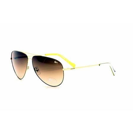 42d9b851d28 Lacoste - Lacoste L129 S L129S 714 Gold Sunglasses 61mm - Walmart.com