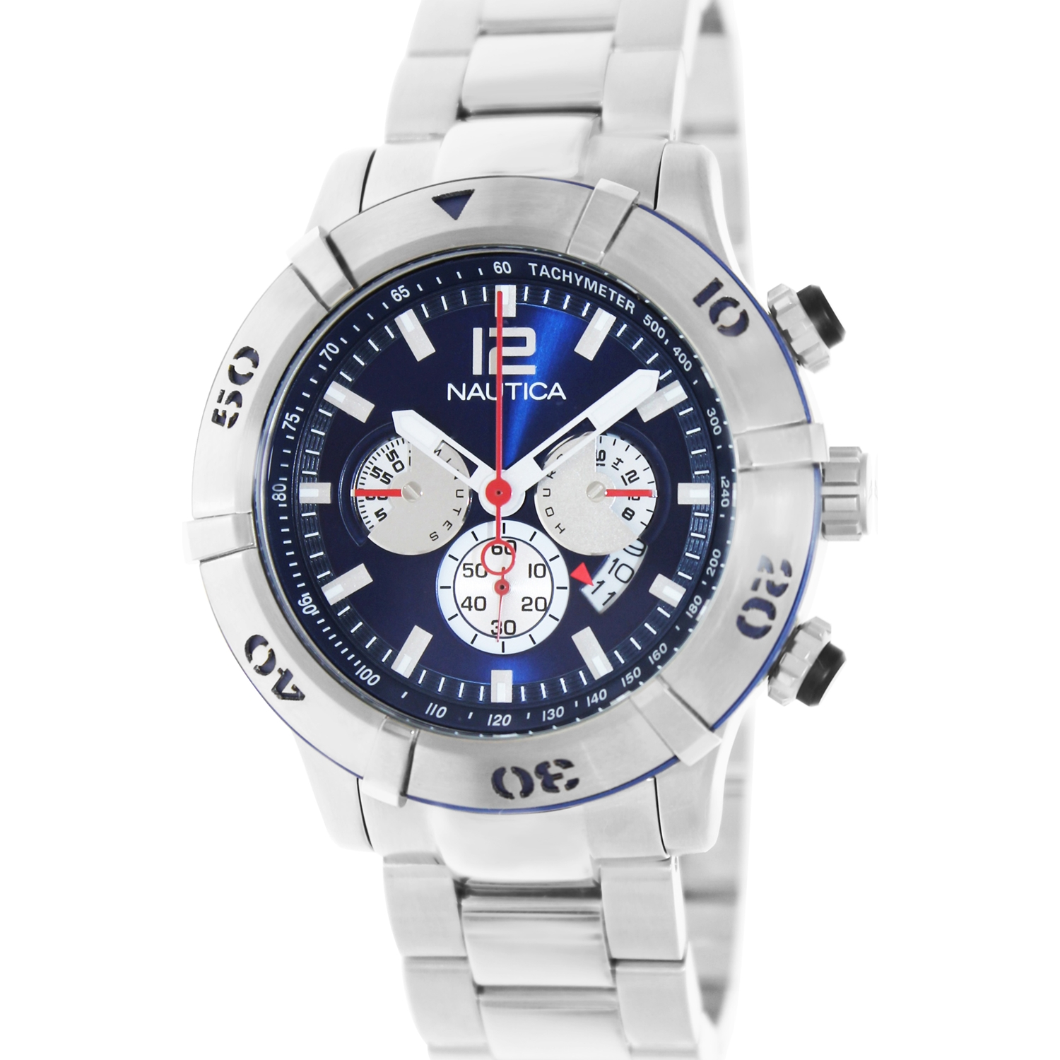 Nautica Men's Ncs 46 A36510G Silver Stainless-Steel Japanese Quartz Dress Watch by Nautica