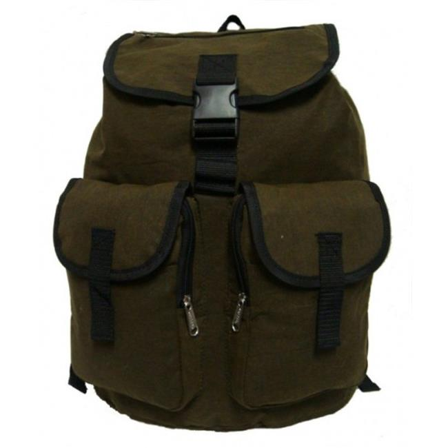 K-Cliffs Heavy Duty Canvas Backpack, Olive Green