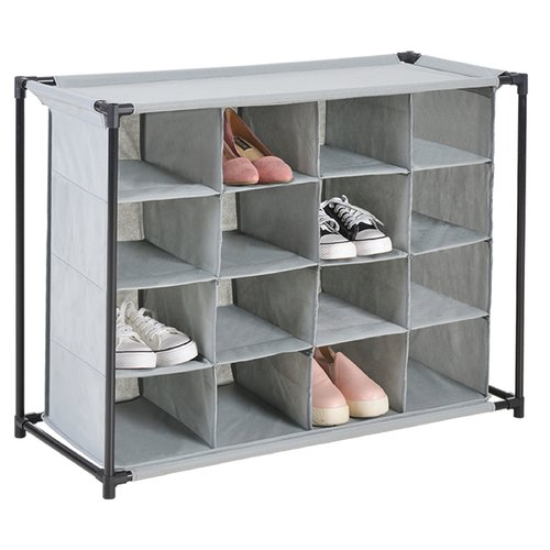 Rebrilliant Non Woven Cubby 16 Pair Shoe Rack