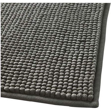 Popeven Bath Mats Soft Bath Mat Chenille Washable Bath Rugs Microfiber Shaggy Non Slip Bathroom Rug Anti Slip Absorbent Bath Rug Carpet with Non Skid Backing (20
