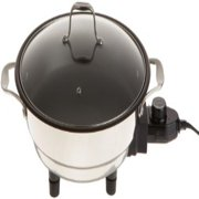 Electric Skillet By Cucina Pro - 18/10 Stainless Steel, Non Stick Interior, with Glass Lid, 12 Round