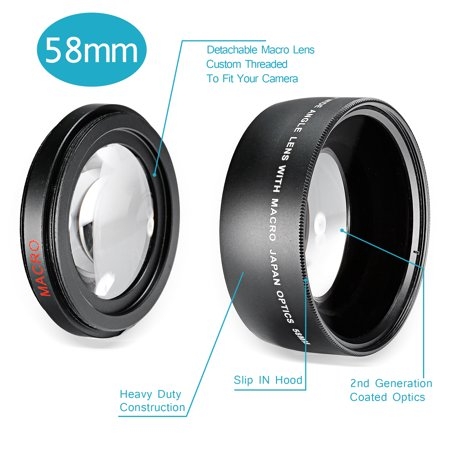 Neewer 58MM 0.43X Professional HD Wide Angle Lens with Macro Portion