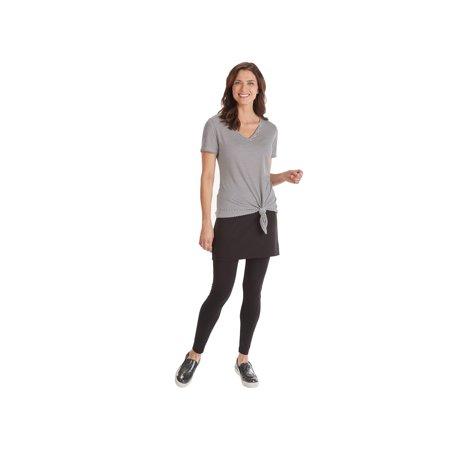 JOH Women's Striped V-Neck T-Shirt - Bias-Cut Asymmetrical Hem Tee With A Twist