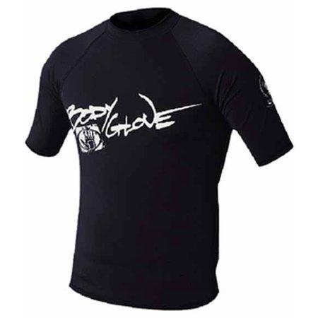 Body Glove 1210J8AA  1210J8AA; Basic Junior Short Sleeve Lycra Rash Guard Rashguard 8 Black