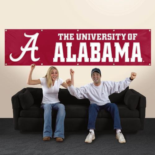 ALABAMA CRIMSON TIDE 8' WIDE OFFICIAL TAILGATE BANNER