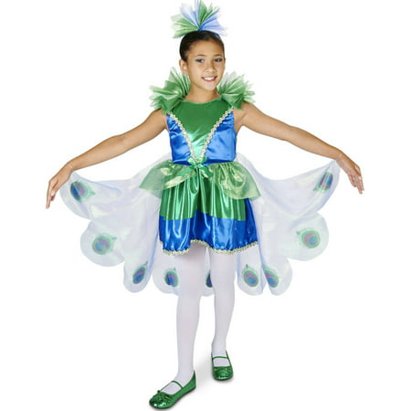 Pretty Little Peacock Child Halloween Costume - Halloween Peacock